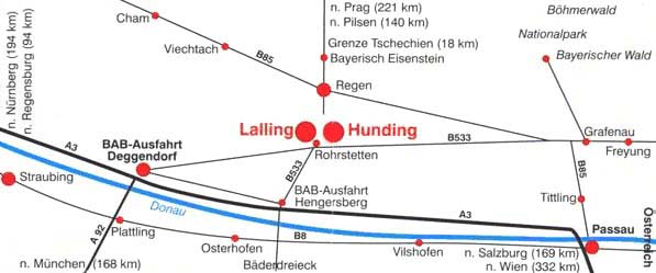 Anfahrt nach Lalling